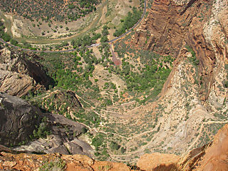 weeping rock from cable mountain (zion canyon)