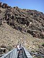 silver bridge crossing the colorado river (grand canyon)