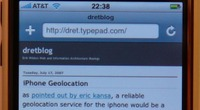 iPhone Safari interface